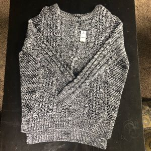 NWT Black & White Express Sweater